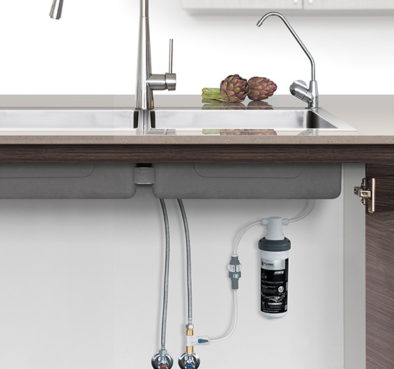 Quick-twist Undersink Water Filter System using Ultra Z Filtration  Technology